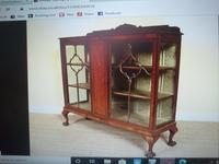 Astragal Display Cabinet. Victorian c.1880 (3 of 8)
