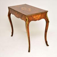 Antique Victorian Marquetry Top Console Table (3 of 12)