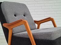 Danish Design, 60s, Completely Restored Armchair, Furniture Wool (15 of 16)