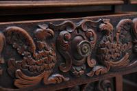 19th Century Carved Oak Partners Desk (12 of 17)