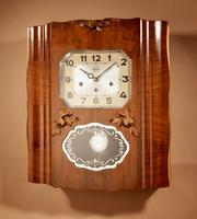 Westminster Girod Carillon Walnut, Rosewood Wall Clock French c.1940