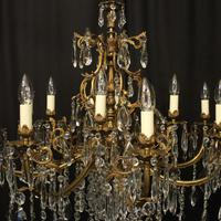 French 12 Light Gilded Bronze Antique Chandelier (8 of 10)