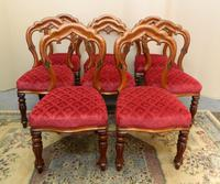 set of 8 mahogany dining chairs (7 of 7)