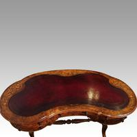 Victorian Inlaid Walnut Kidney Desk (8 of 14)