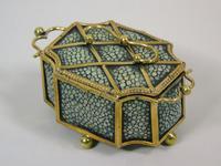 Fine Antique Shagreen Jewellery / Ring Trinket Box (8 of 9)