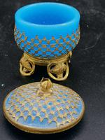 Palays Royale Box in Blue Opaline & Gold Brass Frame (4 of 5)