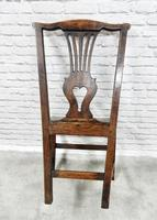 Set of 6 Georgian Welsh Oak Dining Chairs (3 of 8)