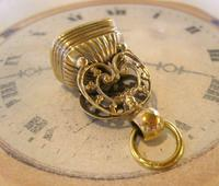 Antique Pocket Watch Chain Fob 1890s Victorian Large Gilt & Carnelian Samuel Fob (7 of 12)