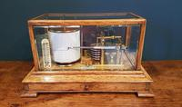 Antique Polished Oak Armstrong of Manchester Barograph (6 of 6)