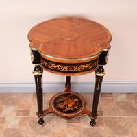 Fine Quality French Marquetry & Ormolu Mounted Occasional Table (16 of 24)