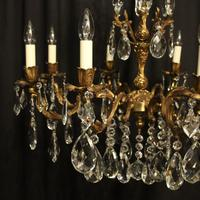 Italian Gilded Brass 8 Light Antique Chandelier (2 of 9)