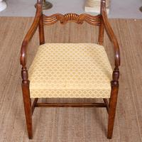 Armchair Fruitwood Desk Library Chair 19th Century Victorian Carved (9 of 11)
