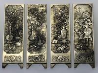 Antique Chinese Solid Silver Zu Yin Hallmarked Scroll Weight Plaques Guangxu (10 of 24)