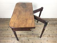 Antique 19th Century Mahogany Fold Over Side Table (11 of 14)