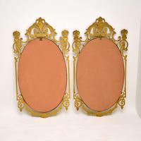Pair of Antique French Style Brass Mirrors (12 of 12)