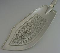 Early Victorian Solid Sterling Silver Fish Server Slice 1842 Antique (5 of 8)