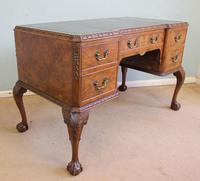 Quality Burr Walnut Kneehole Writing Desk (3 of 15)