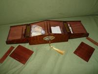 Solid Figured Oak Games Box + Accessories c.1890 (6 of 18)