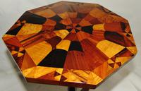 Regency Table with Inlaid Specimen Wood Top (7 of 7)