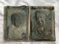 Pair Architectural Scottish Victorian Gilt Bronze Pipe Smoker Gentleman & Lady Wall Plaques (7 of 20)
