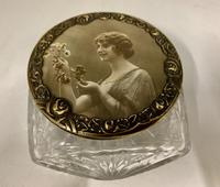Art Nouveau French Glass Trinket Box c.1915 (6 of 7)