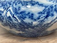 Interesting Chinese Meiping Qianlong Style Round Blue White Porcelain Bowl (12 of 26)