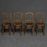 Set of Four Bentwood Chairs by Mundus and J+J Kohn LTD