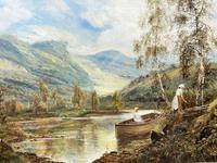 Scottish Loch, Signed: Theodore Hines (2 of 5)