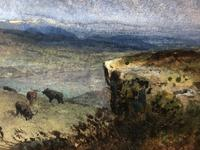 Victorian Scottish Highland Painting of Cattle by Aster Richard Chilton Corbould (8 of 40)