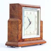 Smiths Art Deco Burr Walnut Cased 8-Day Mantle Clock c1935 (4 of 9)