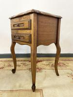 Vintage French Pair of Louis Style Bedsides Tables Oak Cabinets (8 of 12)