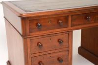 Antique Victorian Mahogany Leather Top Pedestal Desk (8 of 12)