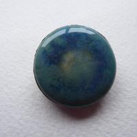 Arts & Crafts Pewter Brooch Mottled Blue Stone (4 of 5)
