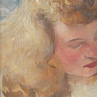 Hugo Ziegler, Study Of An Angel, Oil Painting (5 of 7)