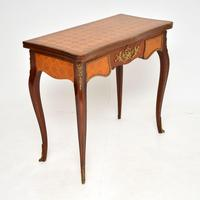 Antique French Inlaid Parquetry Card Table (7 of 12)