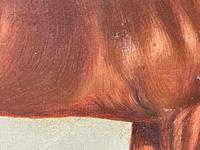 Victorian Oil Painting Chestnut Horse Portrait In Stable Signed Edwin Loder (41 of 42)