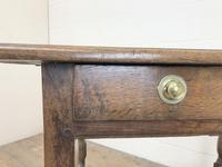 Antique Oak Side Table (m-2295) (10 of 12)
