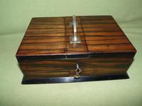 Macassar Ebony Jewellery / Trinket / Cigar Box c.1900 (2 of 11)