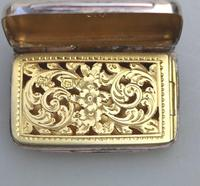 Attractive Victorian Engraved Solid Silver Vinaigrette London c.1877 (7 of 8)