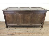 Antique 18th Century Oak Coffer with Three Panel Front (19 of 19)