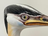 Collectible Italian Elegant Beautiful Porcelain Crane Bird Ornament Signed (8 of 21)