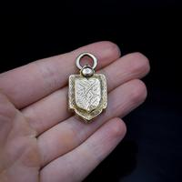 Antique Victorian Rolled Gold Shield Locket Pendant (5 of 5)