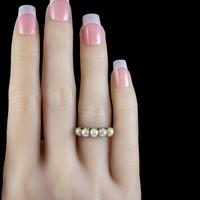 Antique Victorian Pearl Ring 15ct Gold c.1900 (6 of 6)