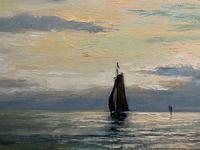 Andries Debeuf Flemish, Stunning Large Moonlit Seascape Oil Painting (10 of 13)