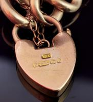 Antique 9ct Gold Curb Bracelet, Edwardian (6 of 9)