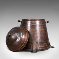 Antique Beehive Fireside Store, Copper, Fire Bucket, Coal Bin, Victorian c.1850 (2 of 12)