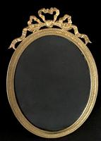 Victorian Gilt Brass Oval Easel Photo Frame (2 of 5)