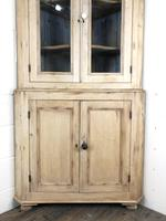Victorian Stripped Pine Corner Cupboard with Glazed Top (9 of 11)
