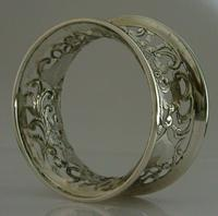 Rare English Solid Sterling Silver Potato Dish Ring London 1917 Antique (10 of 12)