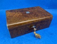 Victorian Nickel / Silver Bound Burr Cedar Box (9 of 11)